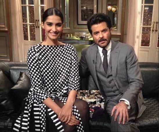 Sonam Kapoor and Anil Kapoor on Koffee with Karan