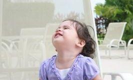 A cute kid looking up/freedigitalphotos