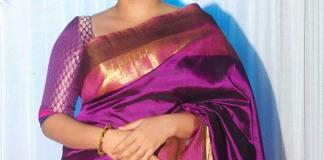 VIdya Balan in a silk saree