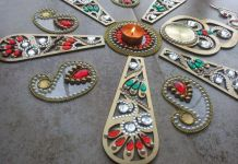 Combine two ready made rangolis