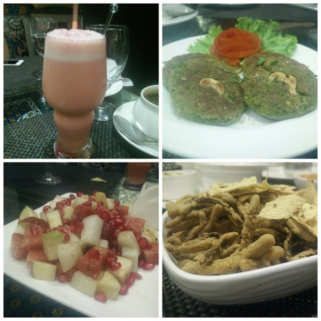 Fruit punch, naayab tikki, fruit chaat, kurkuri bhindi