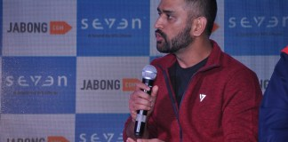 Dhoni at the launch