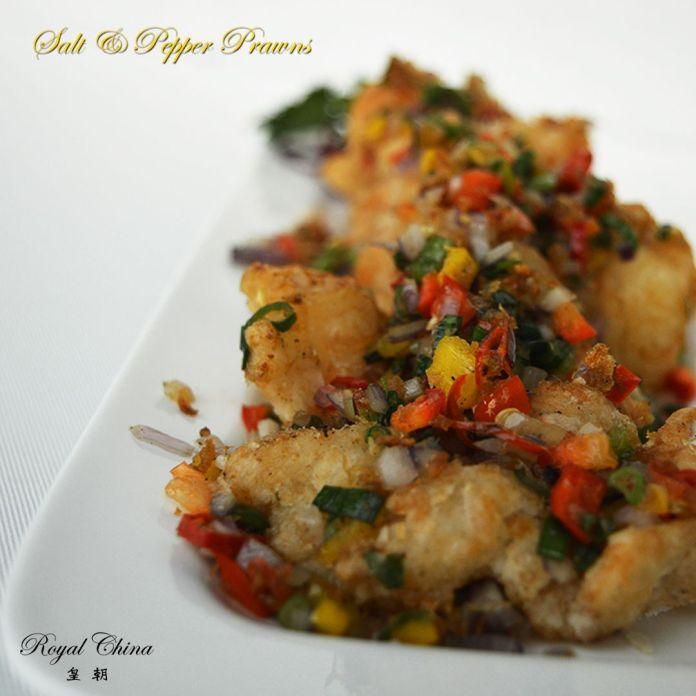 Salt & pepper prawns, Royal China
