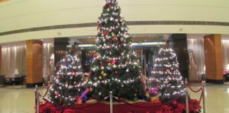 The Christmas tree at Radisson Blu Plaza