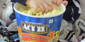 The all new Act II popcorn in Movie Theater Butter