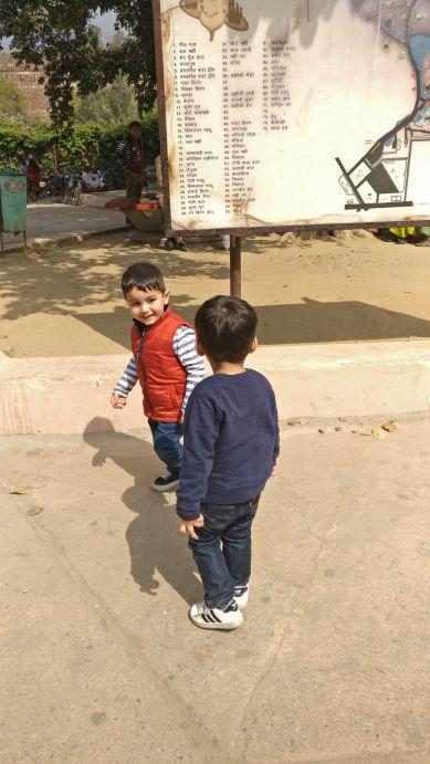 Children enjoying the zoo