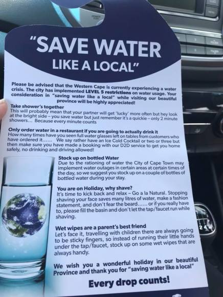 Save Water in Cape Town