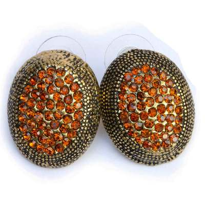 Saffron and gold earrings