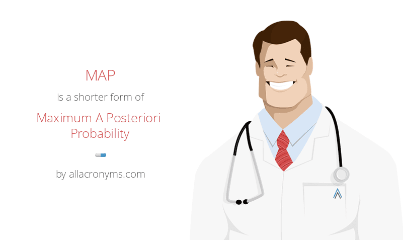 MAP abbreviation stands for Maximum A Posteriori Probability MAP is a shorter form of Maximum A Posteriori Probability