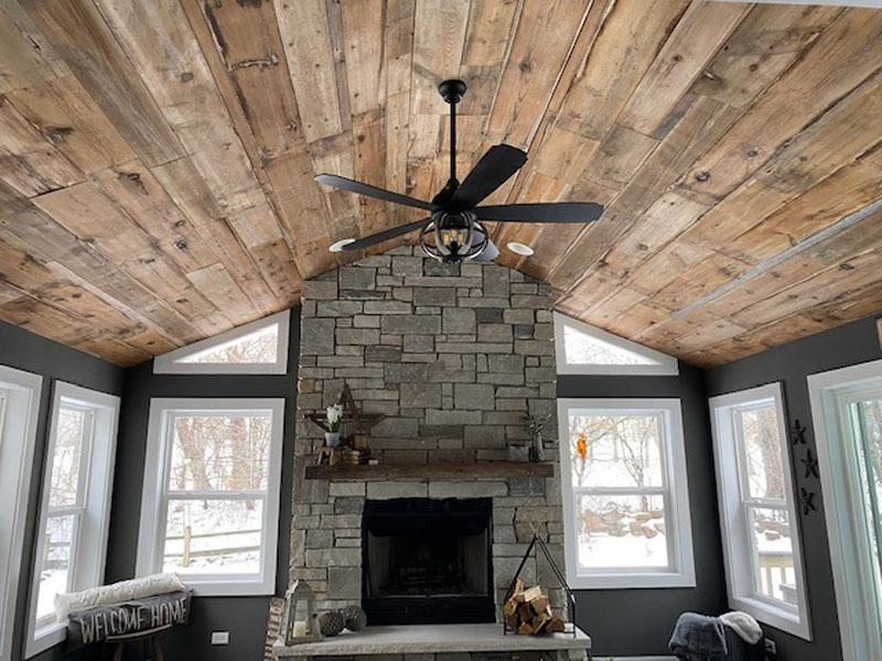 11. Brown Board Shiplap Ceiling
