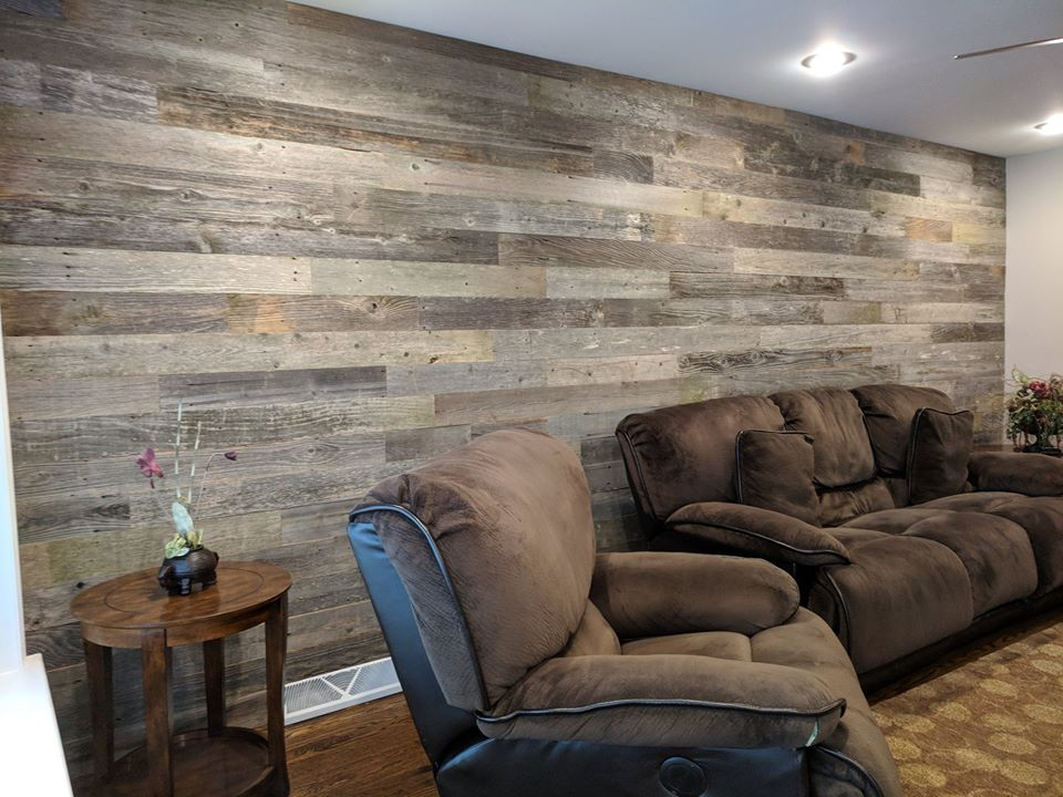 13. Barn Wood Wall. Gray Weathered