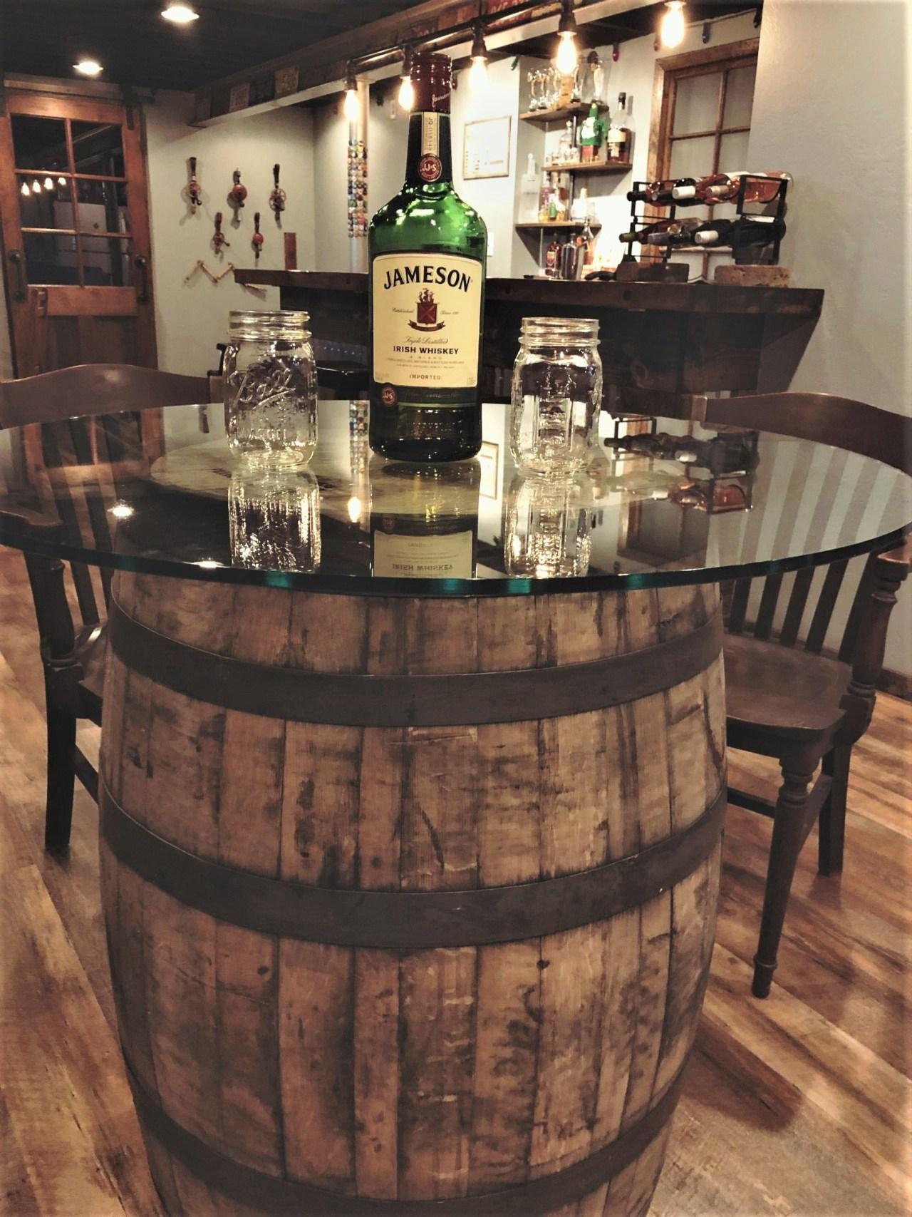 Barrel Table. Customer