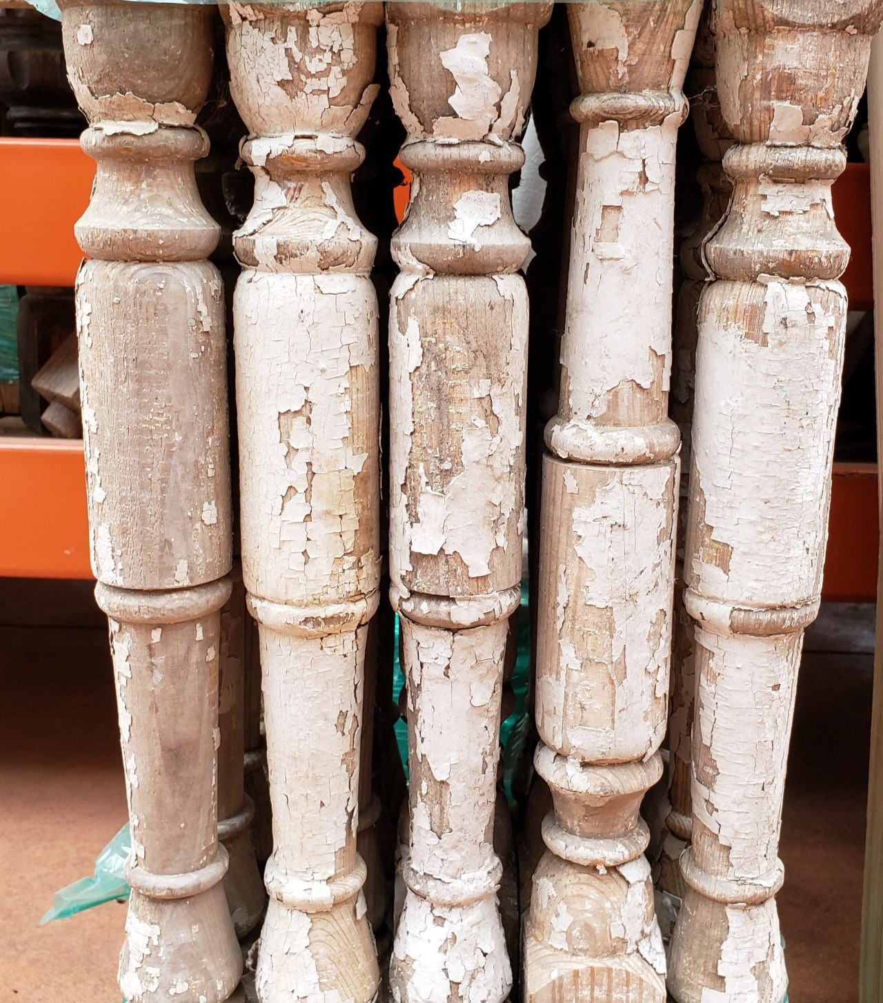 Spindles. Salvaged. 1