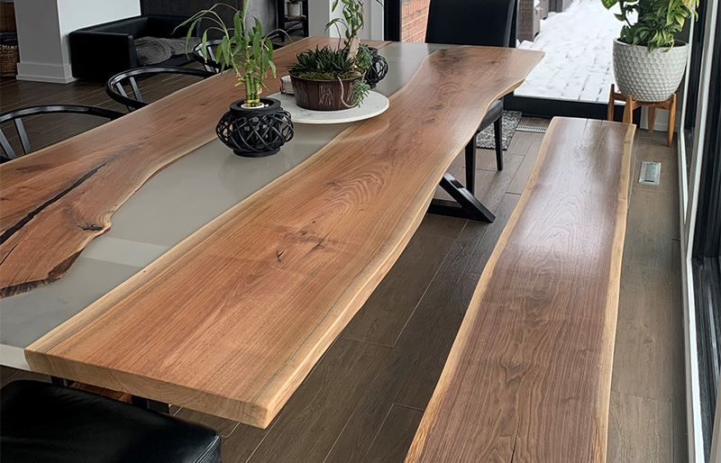Custom Slab River Table