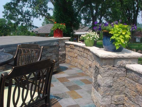 raised patio design ideas retaining walls