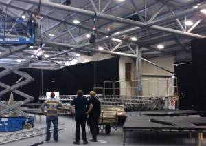 Flying truss and stage for Rockup and sing