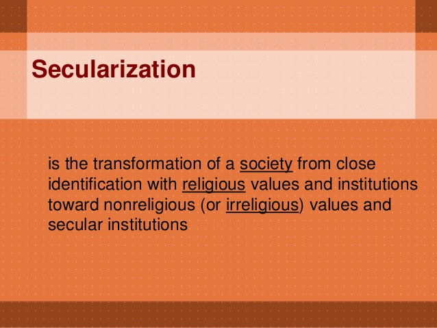 Secularization Definition