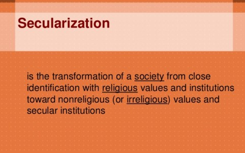 Secularization Definition