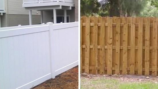 brown vinyl picket fence. Wood Fencing Vs. Vinyl Brown Picket Fence