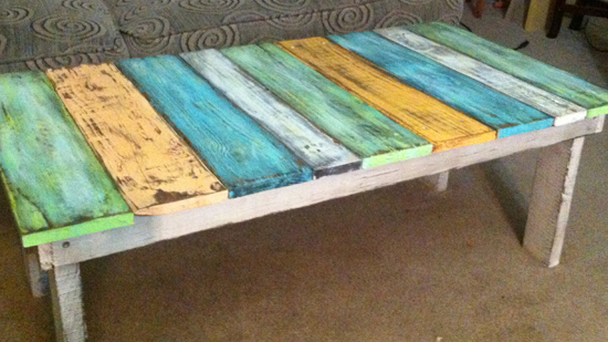 Table Made Of Old Fence Posts