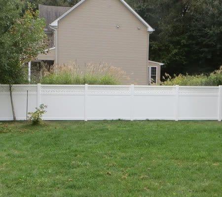 vinyl privacy dog fence