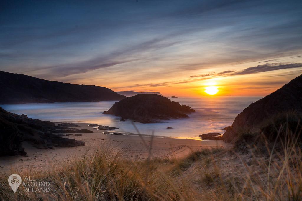 Sunset at Murder Hole Beach, Donegal