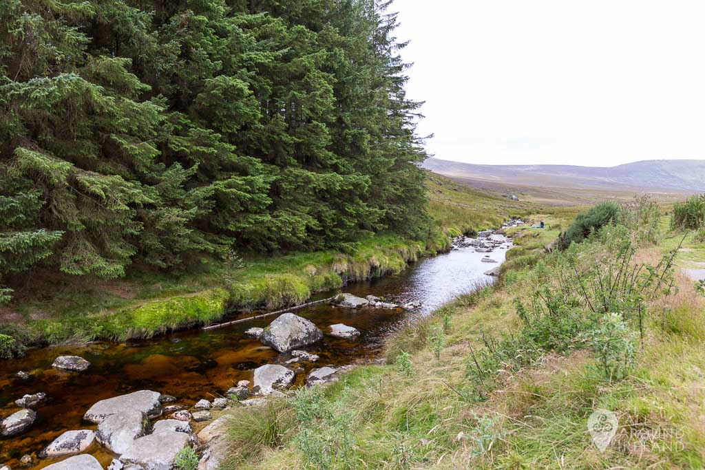 From the carpark of Glenmacnass Waterfall you need to cross this river to climb to Lough Ouler.