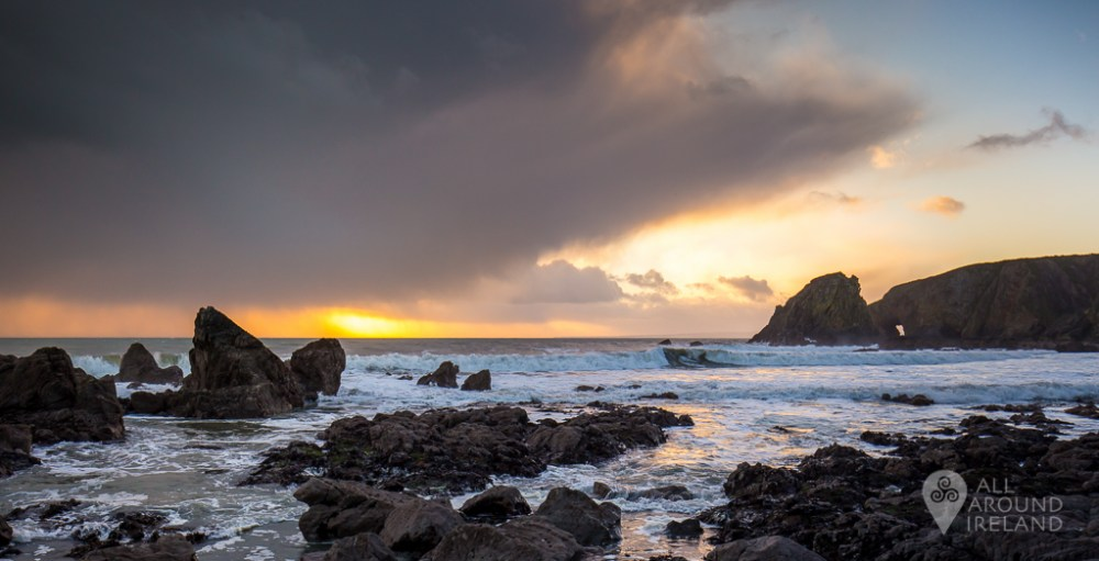 Moody Sunset at Kilfarrasy Beach on the Copper Coast