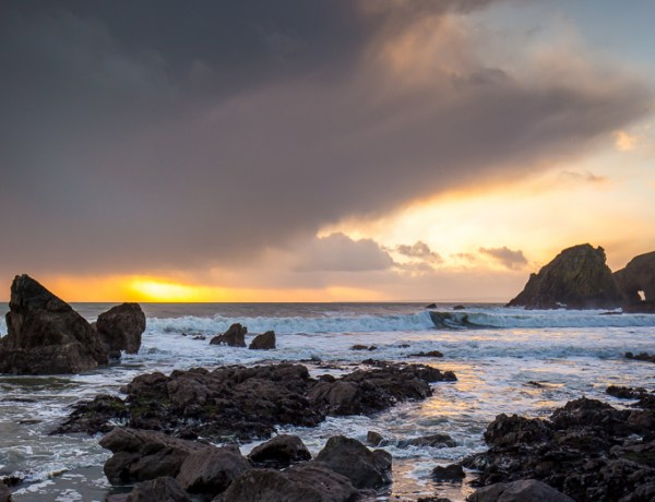Moody Sunset at Kilfarrasy Beach on the Copper Coast