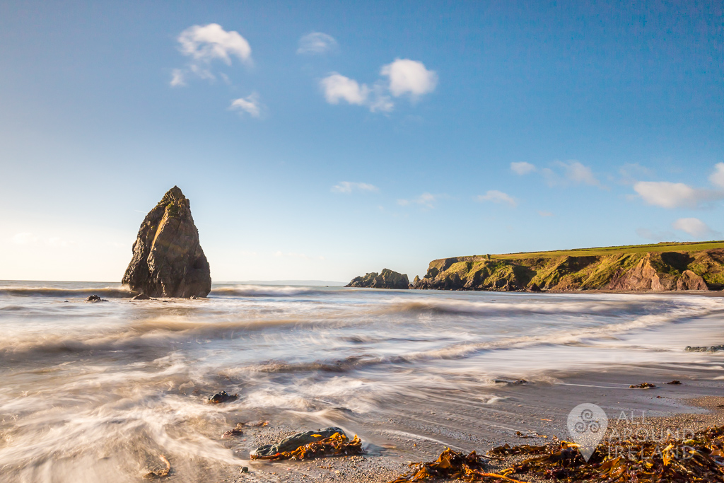 Sea stack at Ballydwan Bay on the Copper Coast