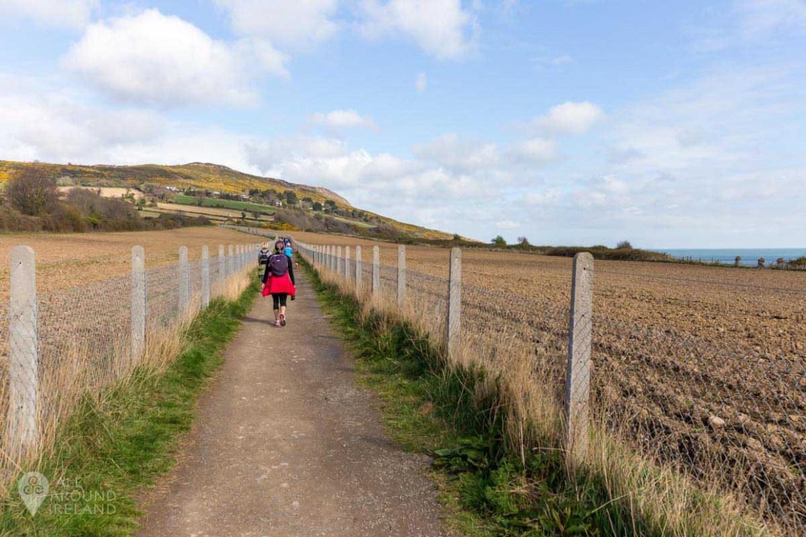 Heading towards Bray Head on the Bray to Greystones cliff walk