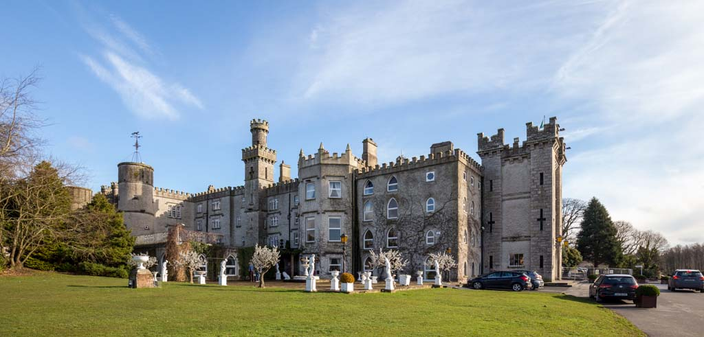 Exterior image of Cabra Castle in Co Cavan, Ireland.