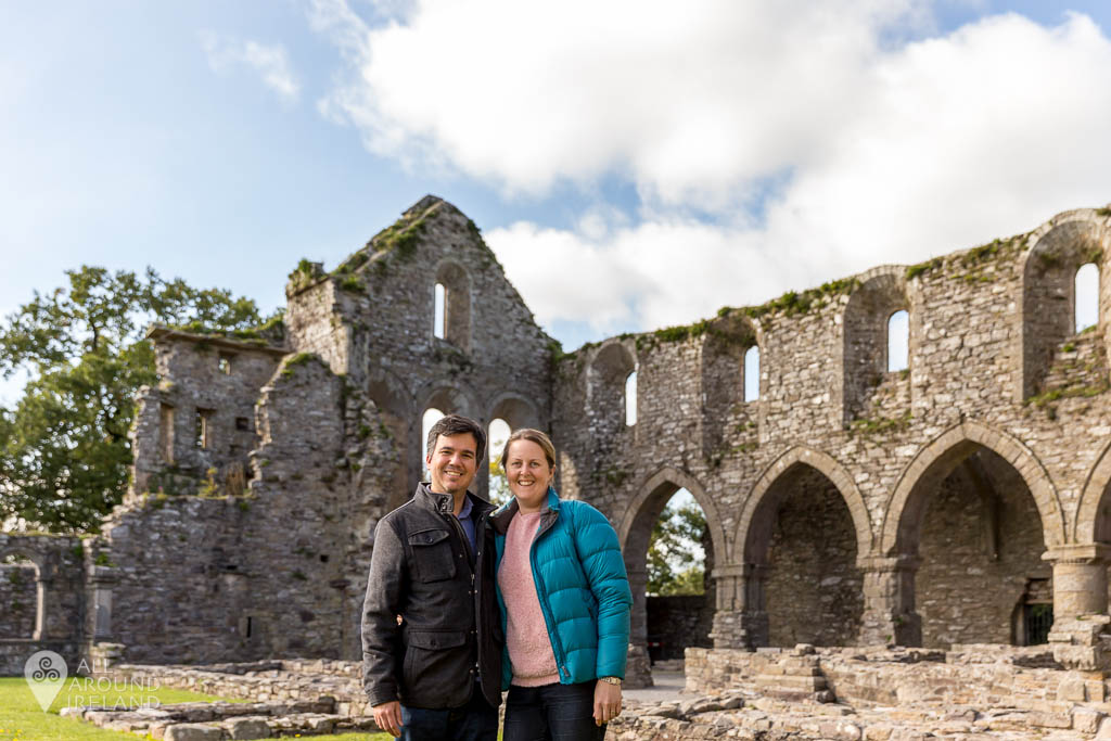 A photo of us at Jerpoint Abbey in Kilkenny, Ireland