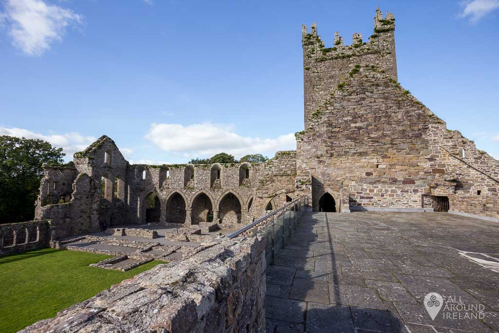 On the upper level at Jerpoint Abbey in Kilkenny, Ireland.