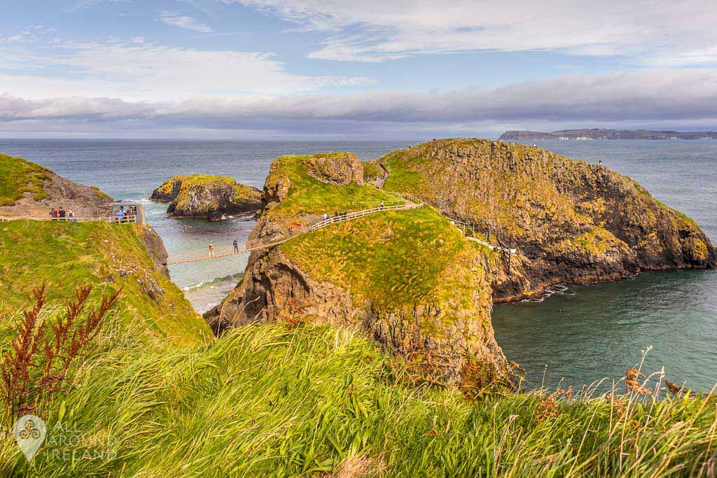 The Carrick-a-Rede rope bridge along the Causeway Coast, Antrim