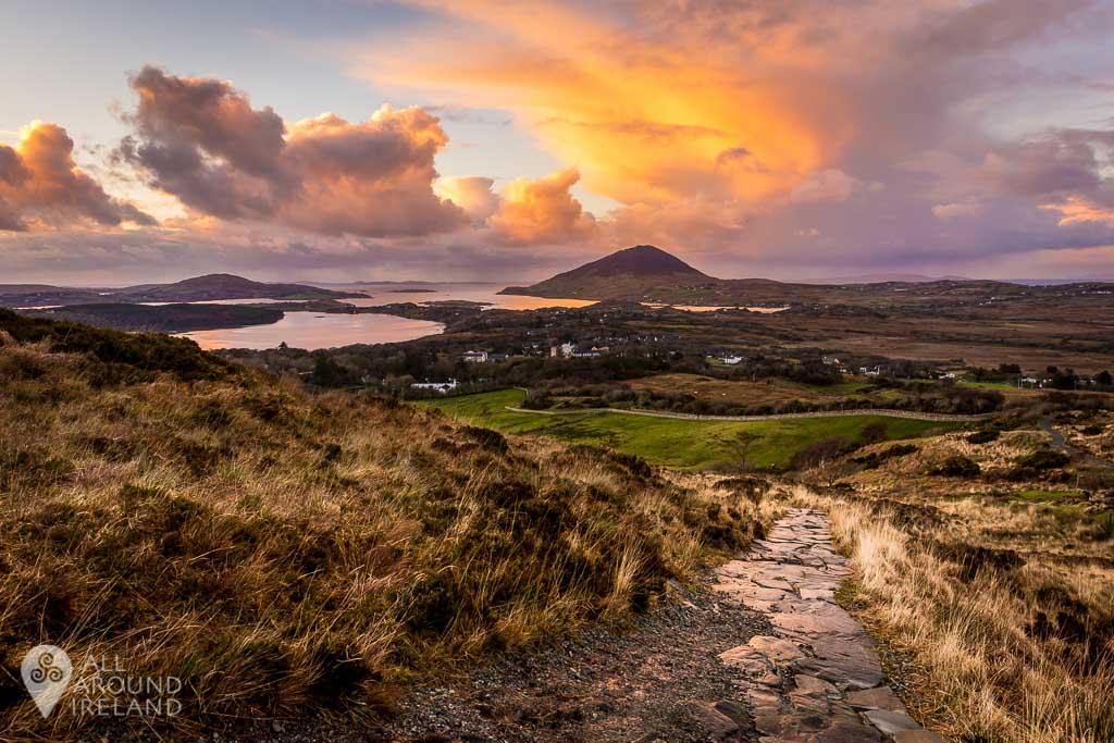 Stunning views from Diamond Hill in Connemara National Park