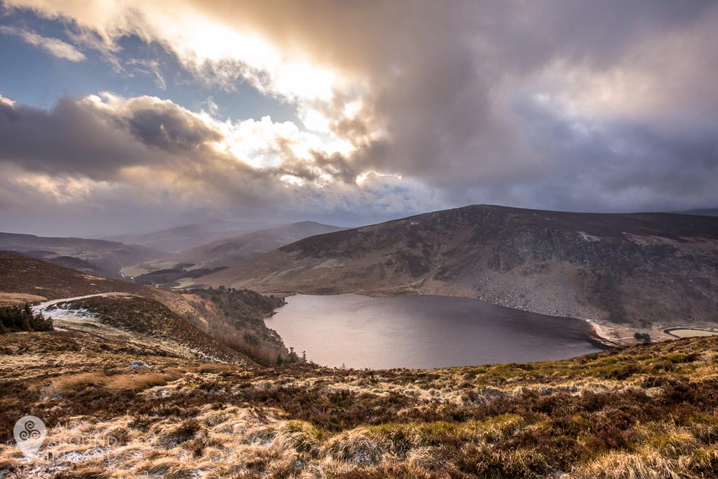 Lough Tay in the Wicklow Mountains. Also known as Guinness Lake!