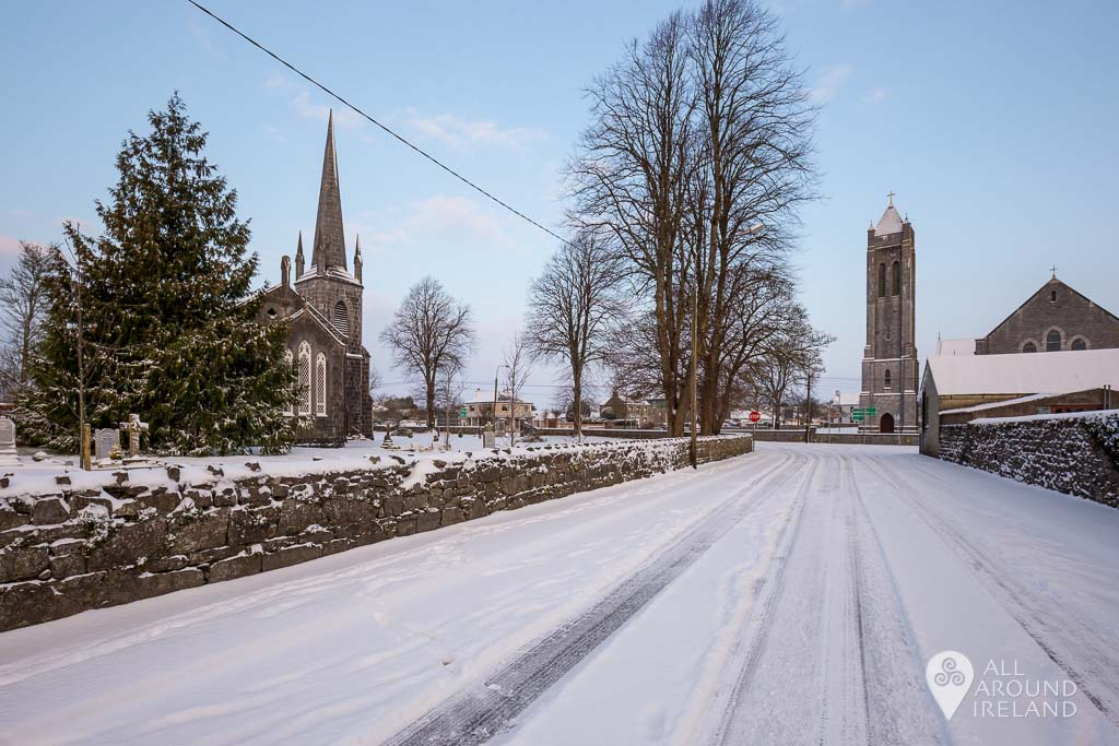 Castle Avenue looking towards Christ Church and St Bridgid's Church