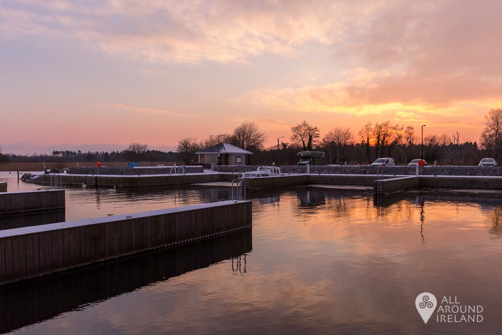 Colourful sunset at Portumna Marina during Storm Emma