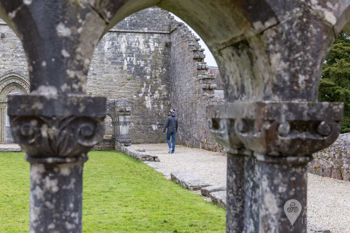 My brother walking through the ruins of Cong Abbey