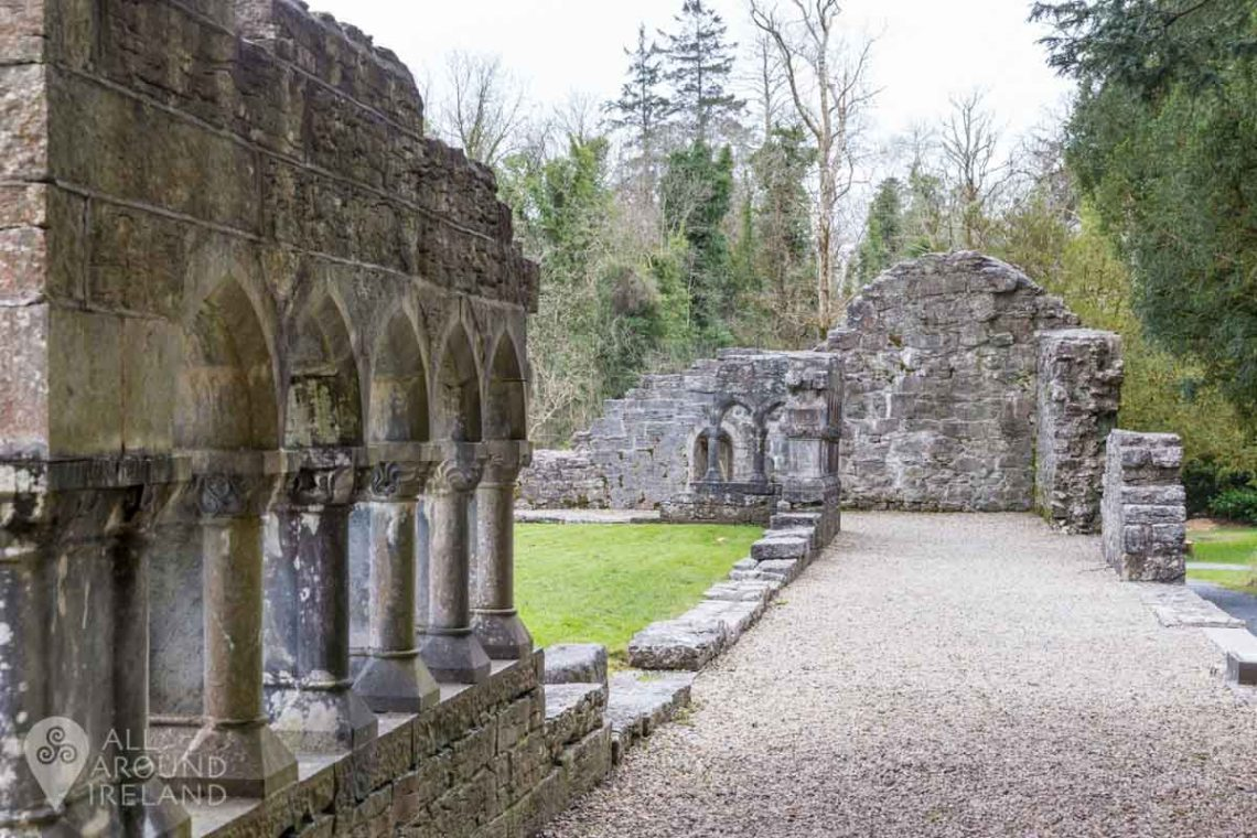 The remains of the cloister at Cong Abbey