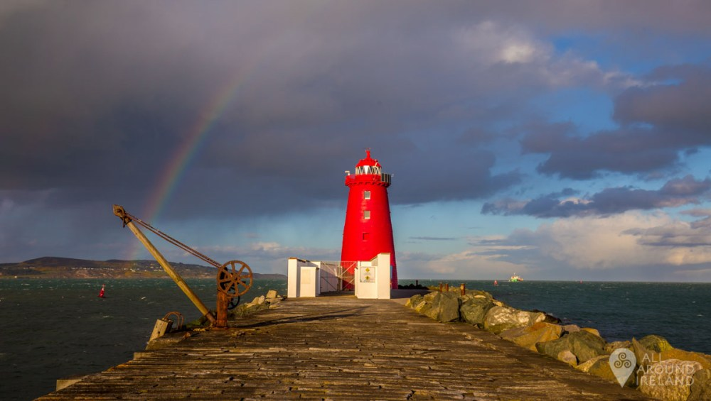Rainbow over Poolbeg Lighthouse