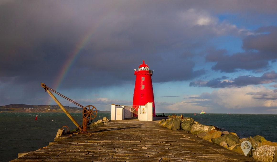 Rainbow over Poolbeg Lighthouse