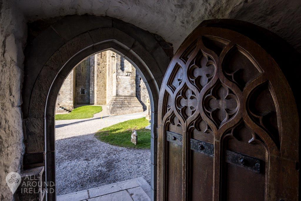 Beautiful ornate wooden door