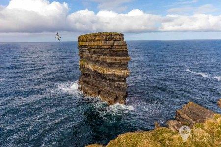 Dun Briste (Broken Fort) sea stack off the coast of Downpatrick Head