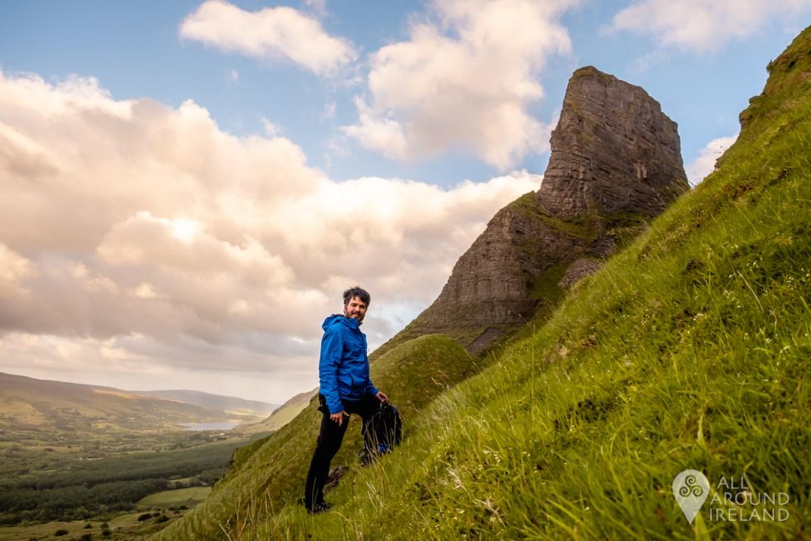 Heading along the mountainside towards Eagle's Rock in Leitrim