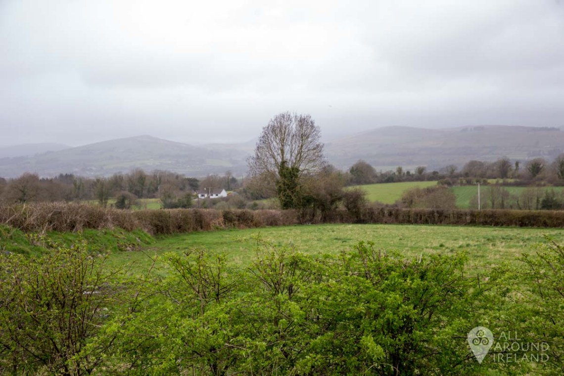 View of the Galtee Mountains from the entrance of the Mitchelstown Cave
