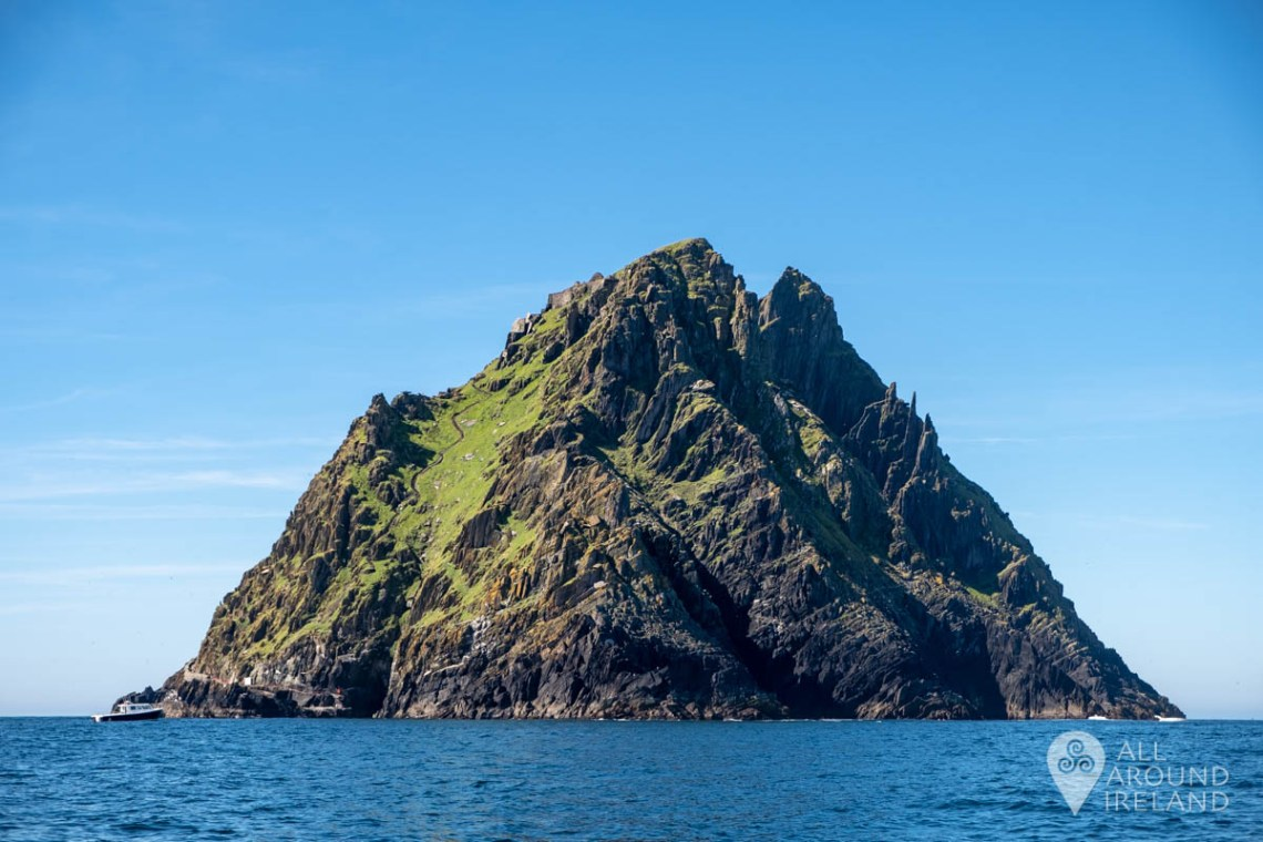 Approaching the landing point on Skellig Michael.