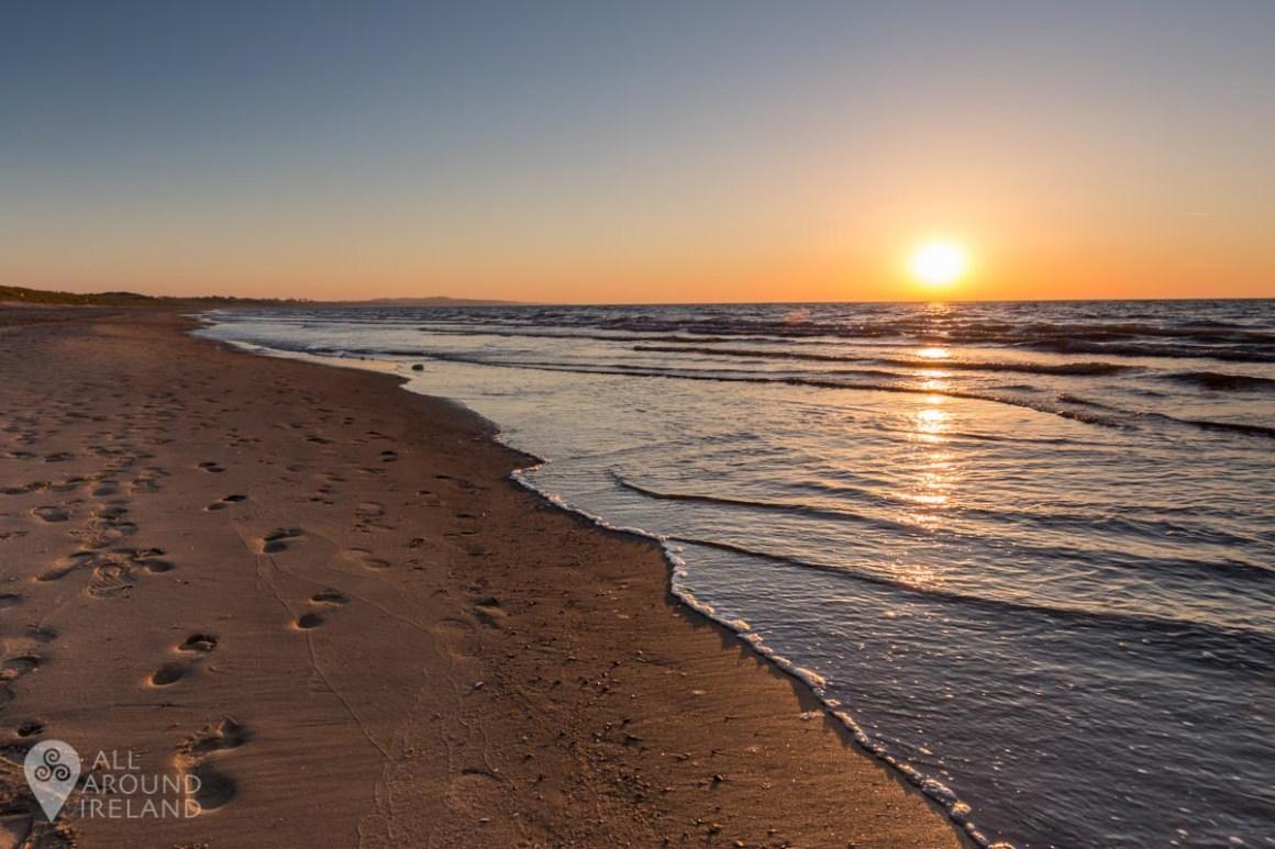 Golden morning light on Curracloe Beach