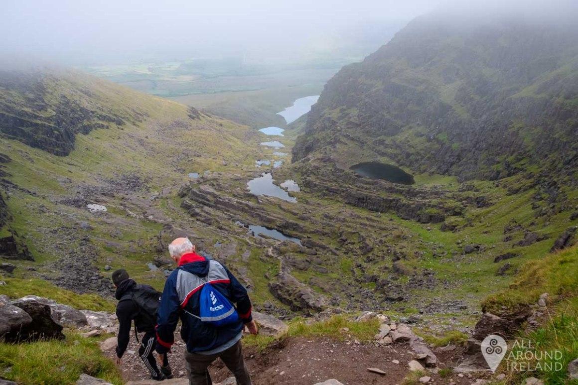 Starting the long journey back down Mount Brandon